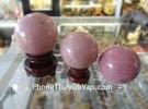 Quả cầu đá hồng vân K070-4