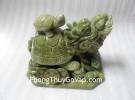Rùa đầu rồng đá lam ngọc cõng con H028