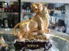 Hổ vàng trên đế gỗ H353G