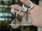 Móc khóa đồng tiền mã não S6093