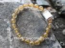Chuỗi đá thạch anh tóc vàng A+ Uruguay 7li 22bi S6226-S5-1921