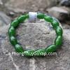 Chuỗi ngọc xanh bích hạt bầu dục Vân Nam S6295