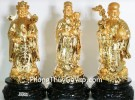 Bộ tam đa vàng trung đế gỗ tròn G156A