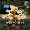 Cây tài lộc gốc đẹp thạch anh hồng nhỏ KC090