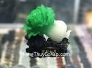 Bắp cải xanh nhỏ đế gỗ  C168A