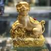 Chó vàng trên bao tải vàng đế thủy tinh C033A