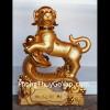 Chó vàng khủng trên gậy như ý C001A