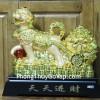 Chó vàng kéo xe vàng lớn C003A