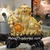 Chó vàng bên hồ lô may mắn C016A
