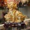 Chó vàng ôm mâm vàng C017A