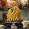 Chó vàng bên đỉnh kim nguyên bảo C020A