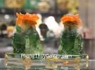 Cặp kỳ lân ngọc xanh tụ tài C083A