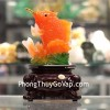 Cá chép ngọc vàng cam trên sóng đế xoay C099A