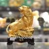 Hổ vàng trên núi đá nhỏ đế gỗ C123A