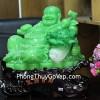 Phật di lạc xanh ngọc khủng ngồi bắp cải C127A