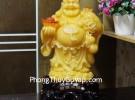 Phật di lạc ngọc vàng cam đứng khủng C128A