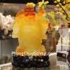 Phật di lạc vàng cam đứng C130A