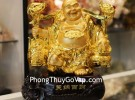 Phật di lạc vàng gánh cây như ý C133A