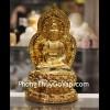 Phật quan âm vàng ngồi trên đế sen C137A