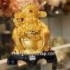 Thần tài vàng ú ù cầm nén vàng gậy như ý vàng C142A