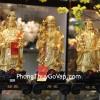 Tam đa vàng trung đế gỗ có hạt châu C150A