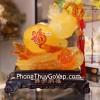 Hồ lô ngọc vàng cam trên tay phật C156A