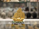 Thuyền buồn vàng bạch kim đế thuỷ tinh nhỏ C190A