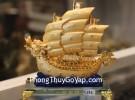 Thuyền buồm rồng vàng trên sóng xanh C191A