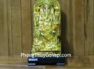 Phật đầu voi vàng lớn ngồi trên ngai vàng C206A