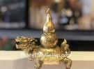 Rùa đầu rồng đồng cõng hồ lô đồng D289