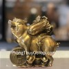 Đại đế heo đồng cõng bắp cải trên đống tiền vàng D300