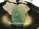 Phật bản mệnh Phỉ Thúy xanh đậm sắc sảo A+ nhỏ (Thìn + Tỵ) S6865-4