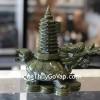 Rùa đầu rồng lam ngọc cõng tháp nhỏ GM029