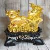 Vua heo vàng kéo xe bắp cải tiền vàng LN027