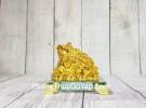 Thiềm thừ vàng trên đống tiền vàng đế thuỷ tinh LN105