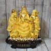 Tam đa phước lộc thọ vàng kim sa bên tháp nén vàng lớn LN113