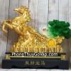 Thần ngựa vàng khủng kéo xe cải xanh trên đống tiền vàng LN120