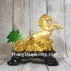 Thần ngựa vàng kéo xe vàng bắp cải ngọc xanh cưỡi mây vàng LN131