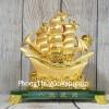 Thuyền buồm vàng bóng lướt sóng thần vàng đế thuỷ tin LN145