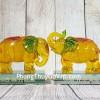 Song đế voi vàng cam ngọc lưu ly phước lộc đế thuỷ tinh LN181