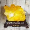 Phật di lạc cam vàng ngọc vác như ý có hồng châu trên túi tài lộc khủng LN187