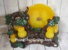 Cây hồ lô năm quả vàng ngọc có trăng cam vàng lưu ly lớn – Ngũ Phước Bình An LN199