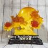 Cây mẫu đơn vàng ngọc hoa đỏ cam lưu ly bên trăng vàng và cặp uyên ương lưu ly – Hoa Hảo Nguyệt Viên LN211