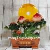 Cây đào tiên xanh ngọc đa sắc trái đỏ bên trăng cam vàng lưu ly – Bình An Trường Thọ LN213