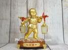 Tiên đồng nam tử hợp kim vàng bóng gánh gậy như ý 2 thùng kim bảo bạch ngọc – Tống Tài Đồng Tử LN219