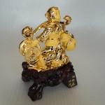 K037M 1 150x150 Khỉ vàng gánh tiền vàng quả đào K037M