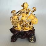 K037M 150x150 Khỉ vàng gánh tiền vàng quả đào K037M