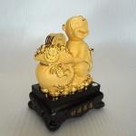 K044M 1 150x150 Khỉ ôm túi tiền vàng đế  gỗ K044M
