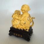 K044M 2 150x150 Khỉ ôm túi tiền vàng đế  gỗ K044M