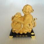 K054M 150x150 Khỉ tài lộc ôm túi vàng K054M